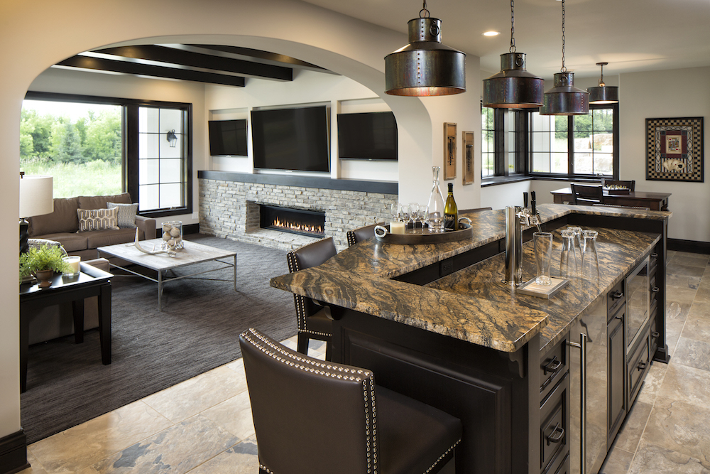 Granite island in kitchen by C&D Granite Minneapolis MN
