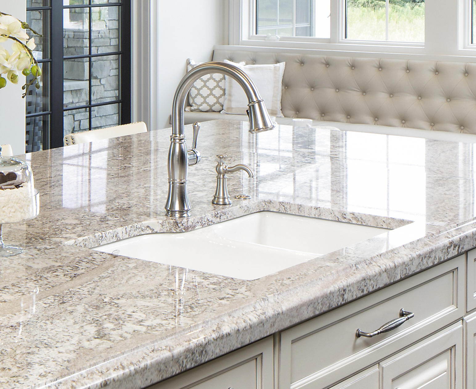 kitchen sink set in granite countertop by cu0026d granite minneapolis mn kitchen sinks for countertops s11 sinks