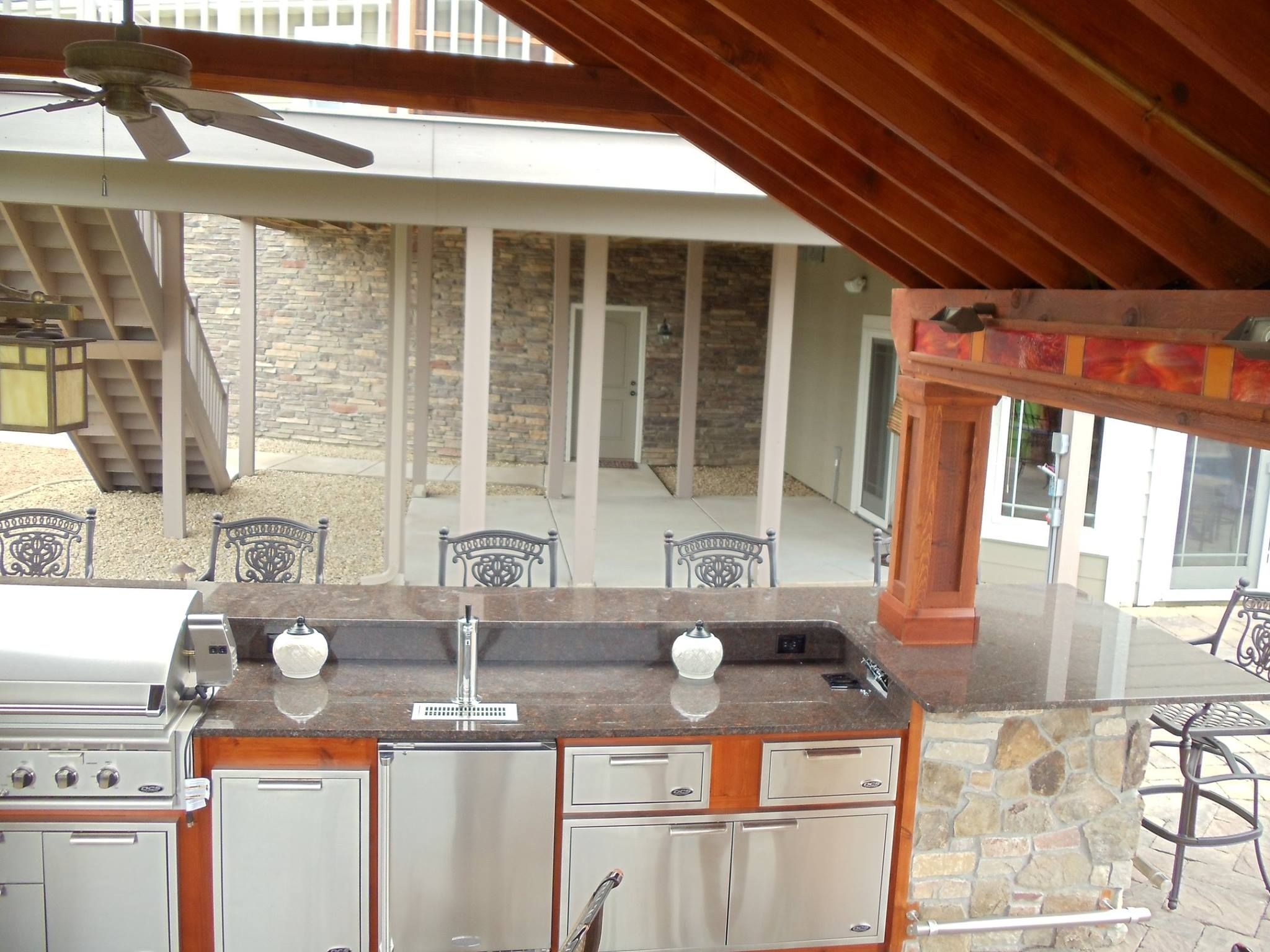 Outdoor Kitchen Stone Countertop by C&D Granite installed in Rogers MN