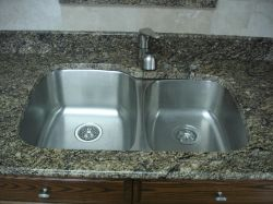 Sink MG-503-R. Under mount stainless steel kitchen sink for granite  countertop