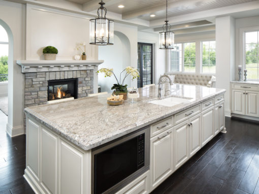Taupe White Granite In Kitchen