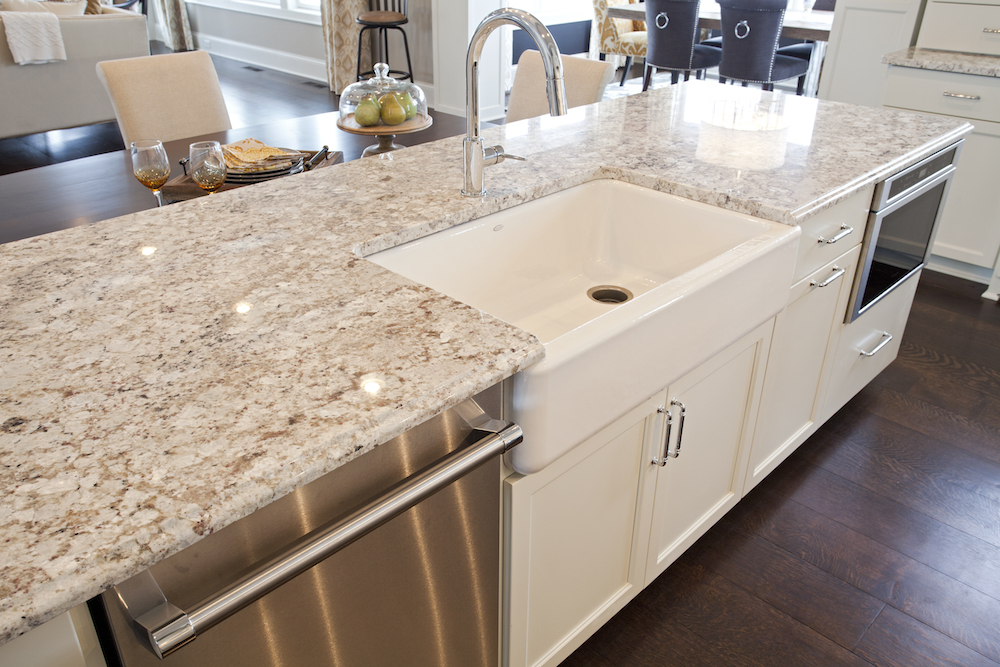 Granite Island Countertops In Kitchen By C D Minneapolis Mn